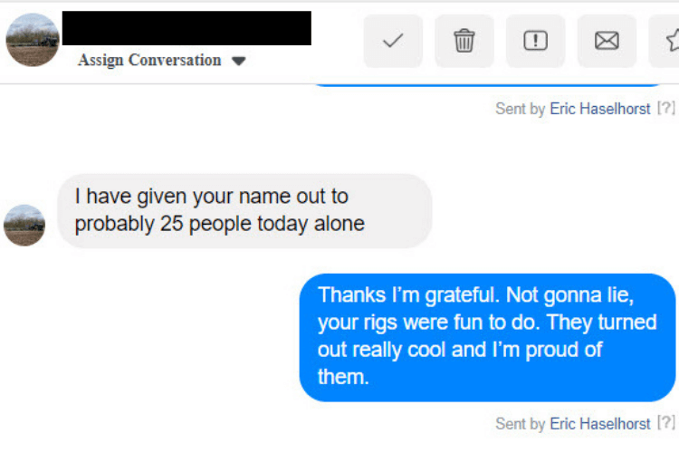 I've given your name out to 25 people today