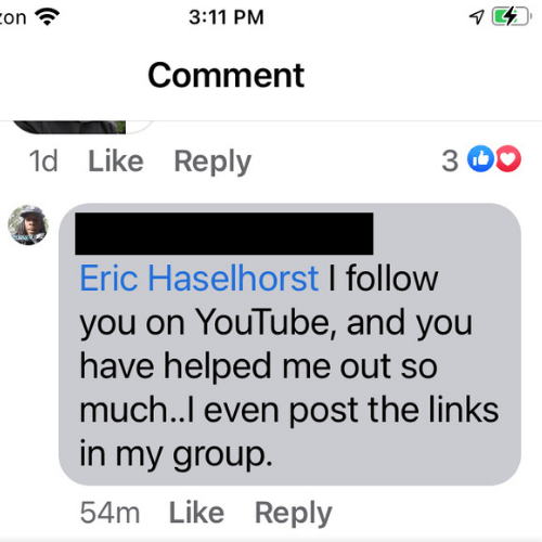 I follow you on YouTube and you've helped me so much